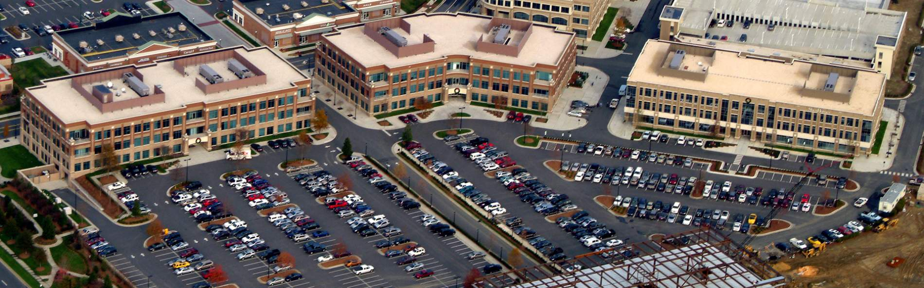 600 parking spaces to meet parking requirements for the buildings