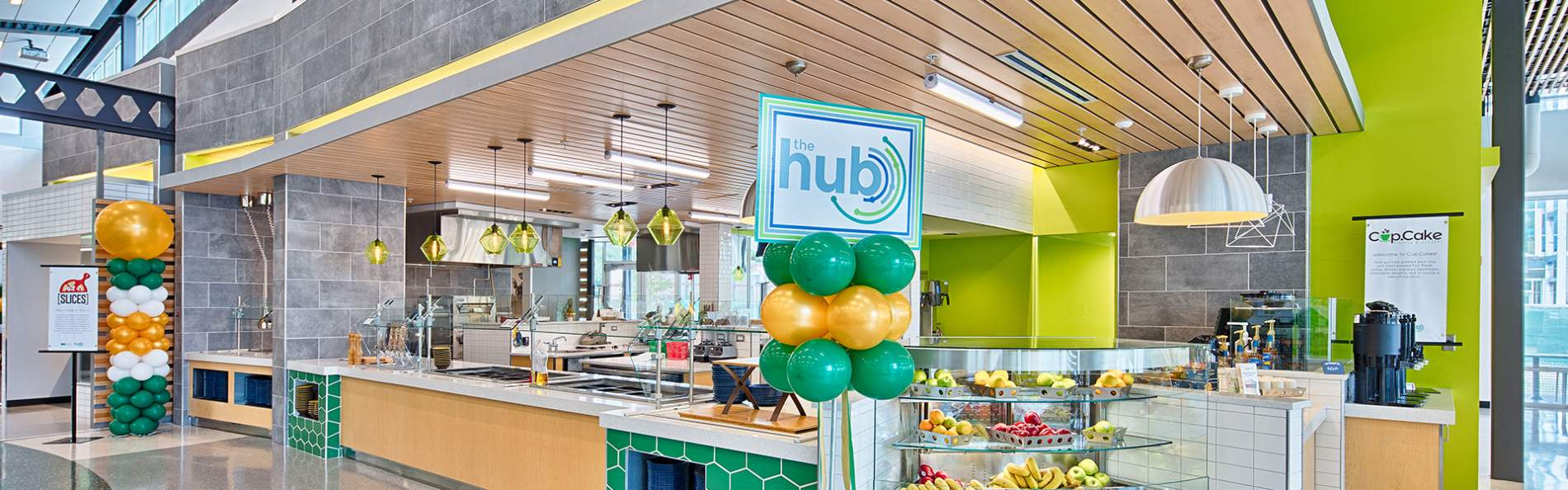 The hub in the new USF dining hall