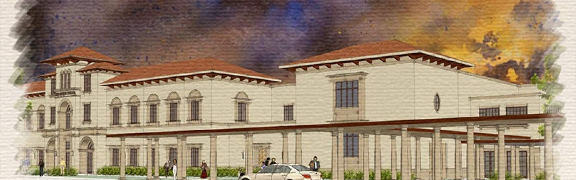 Exterior rendering by Clacny & Theys Construction Company