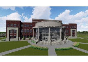 South Piedmont Community College Rendering Construction