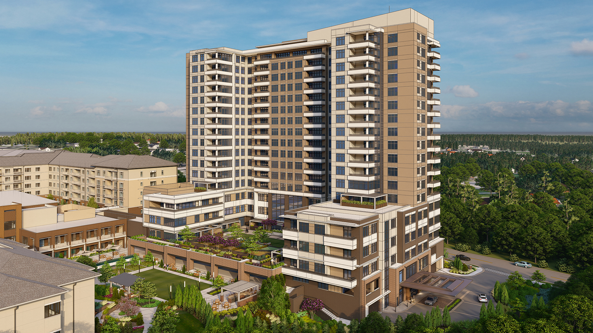 The Tower at the Cardinal North Hills Rendering